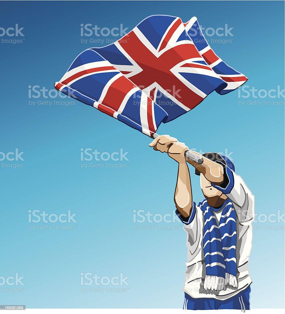 United Kingdom Union Jack Flag Soccer Fan royalty-free stock vector art