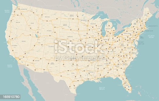 istock United States Highway Map 165910780