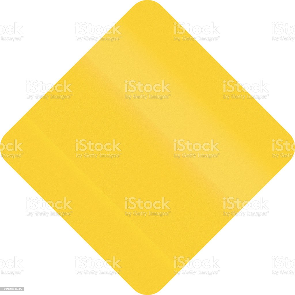 united states mutcd diamond shape template road sign stock vector