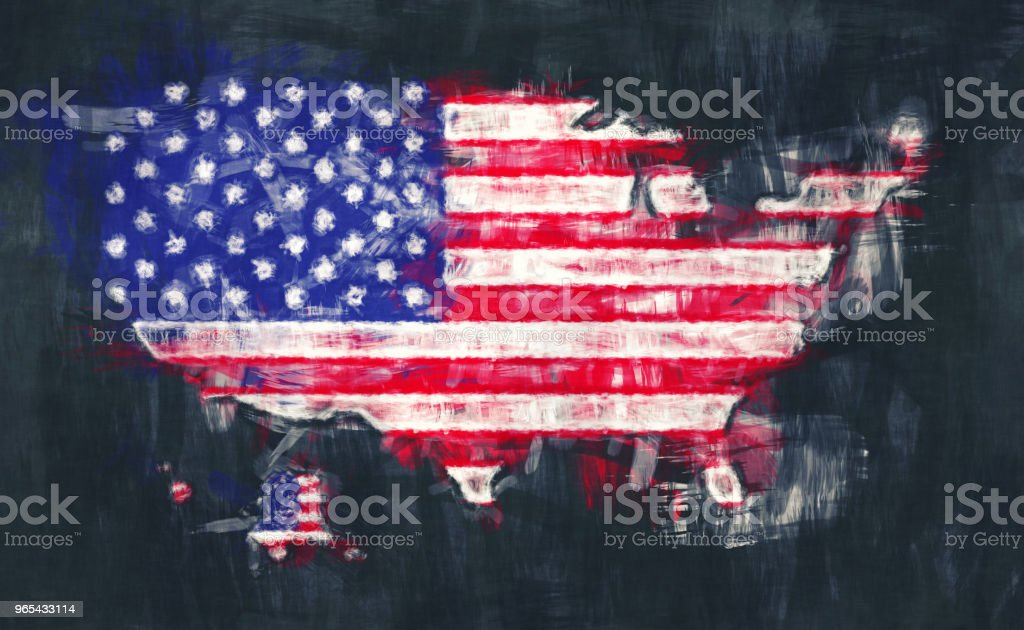 United States of America map artwork painting illustration united states of america map artwork painting illustration - stockowe grafiki wektorowe i więcej obrazów abstrakcja royalty-free