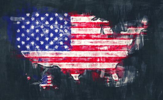 아메리카 합중국의 지도 작품 그림 그림 개념에 대한 스톡 벡터 아트 및 기타 이미지