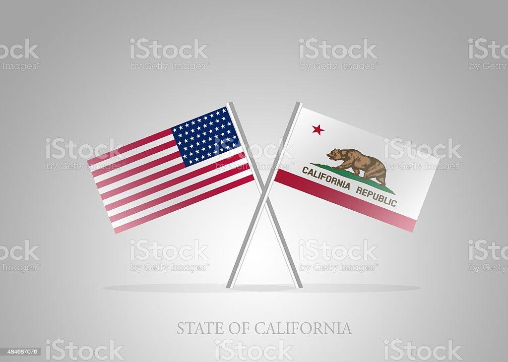 f525f96f62391 United States Of America State Of California Mini Flag Stock Vector ...