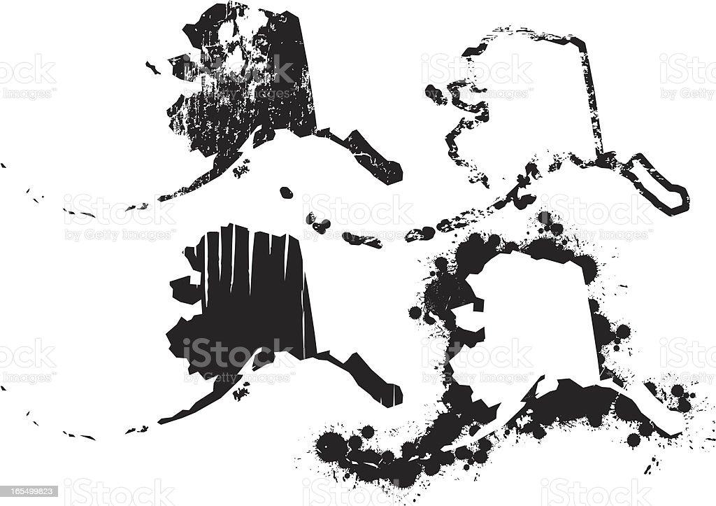 United States of Grunge - Alaska royalty-free stock vector art