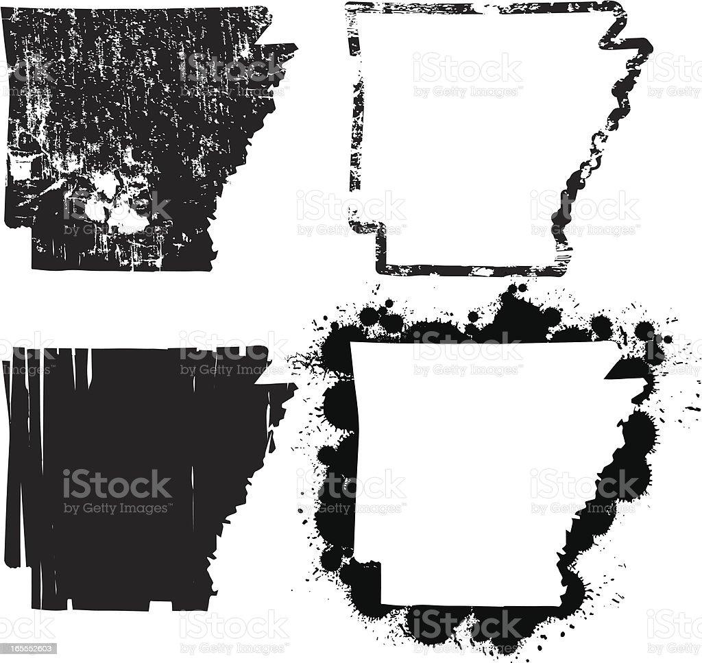 United States of Grunge - Arkansas vector art illustration