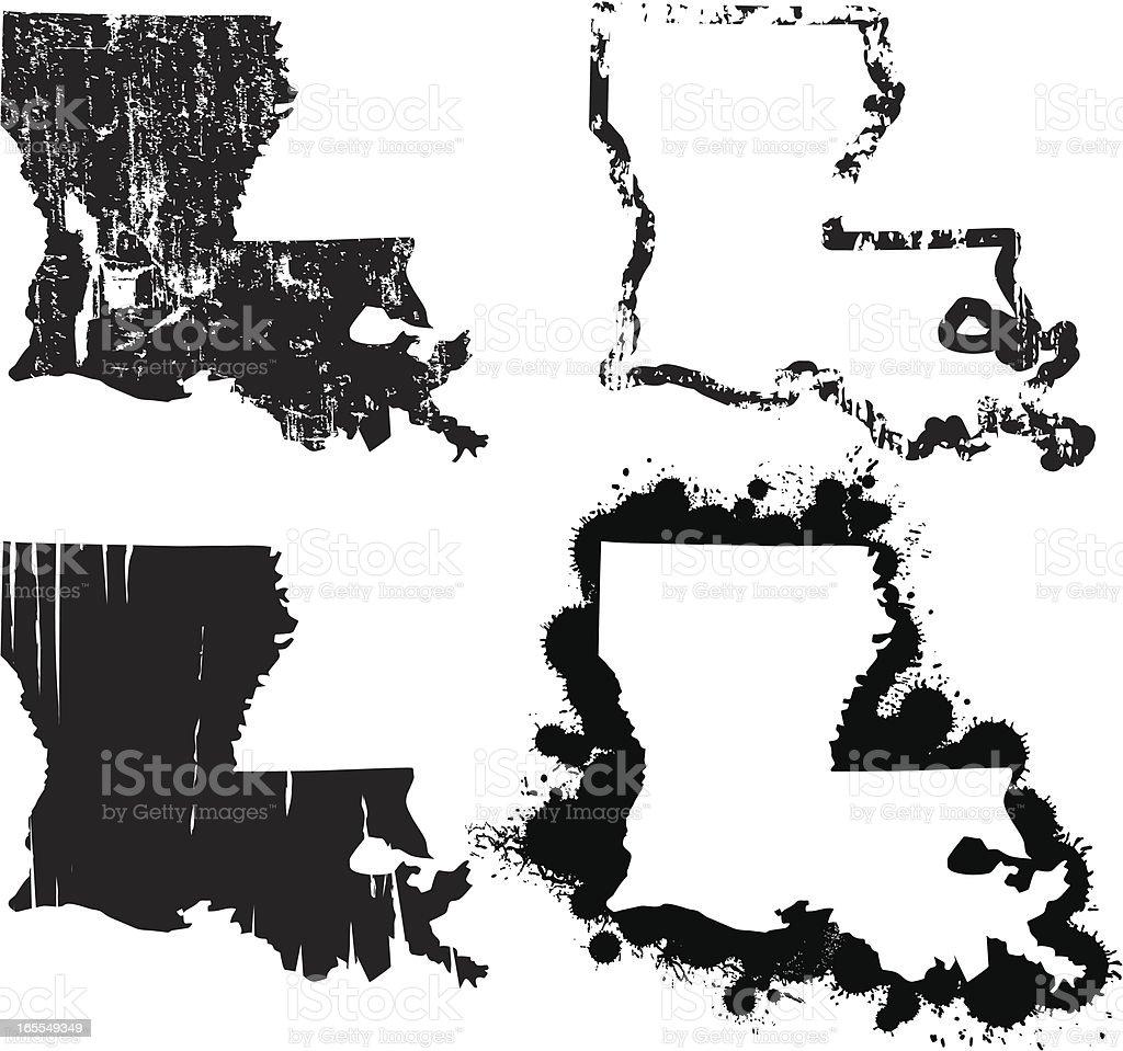 United States of Grunge - Louisiana vector art illustration