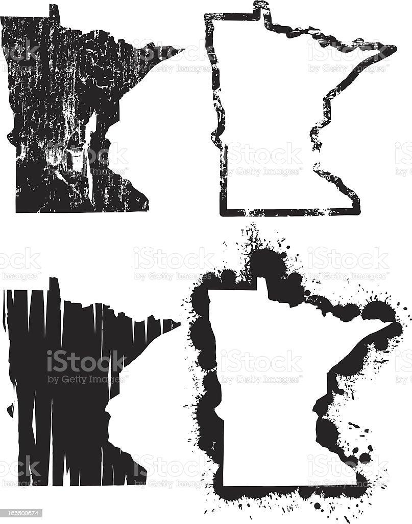 United States of Grunge - Minnesota vector art illustration