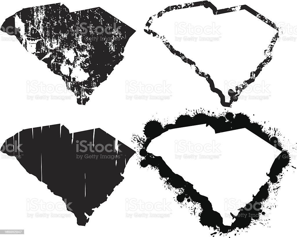 United States of Grunge - South Carolina vector art illustration