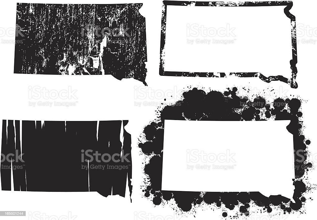United States of Grunge - South Dakota royalty-free united states of grunge south dakota stock vector art & more images of dirty