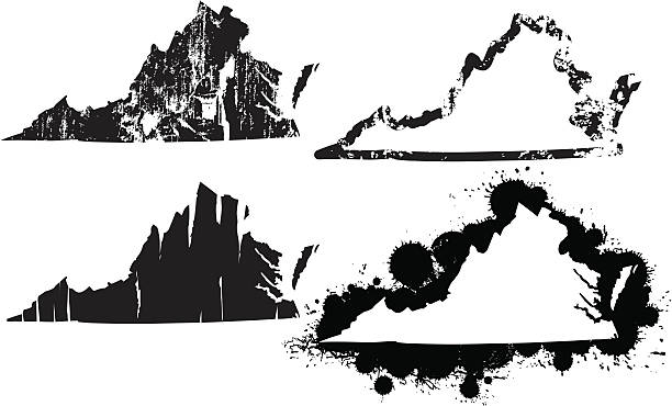 united states of grunge virginia vector art illustration
