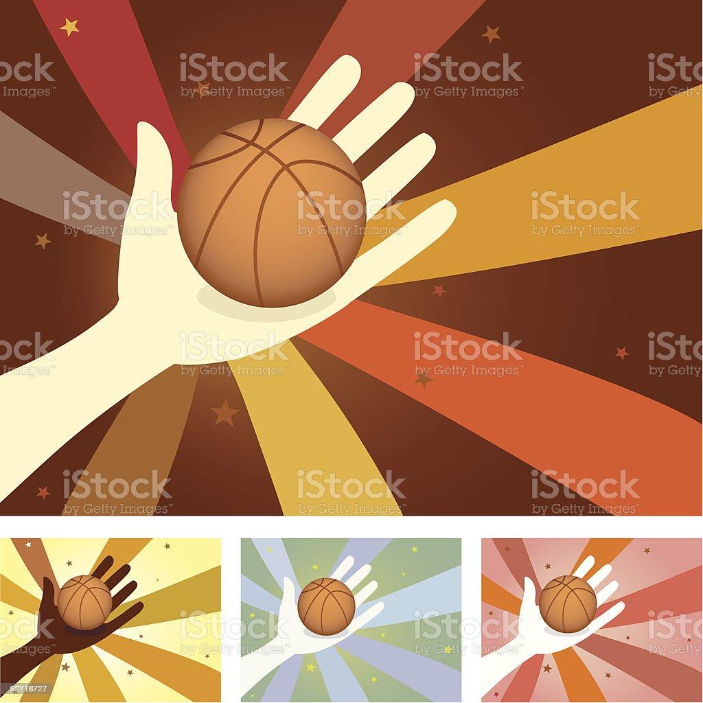 Unity Hands - Basketball vector art illustration