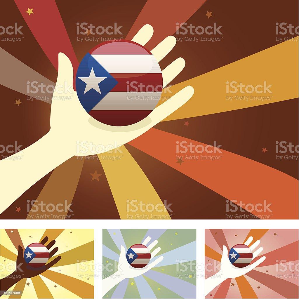 Unity Hands - United States vector art illustration