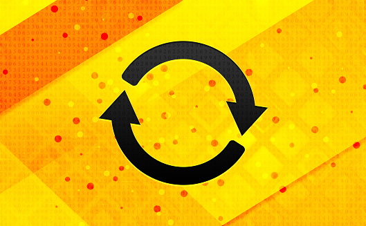 Update icon abstract digital banner yellow background
