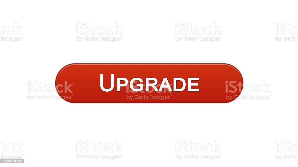 Upgrade Web Interface Button Wine Red Software Installation Program Update Royalty Free