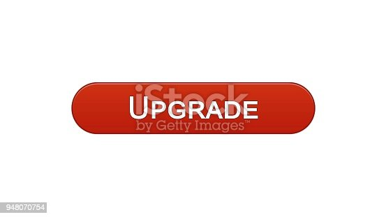 Upgrade Web Interface Button Wine Red Software Installation Program Update Stock Vector Art More Images Of Adjusting 948070754