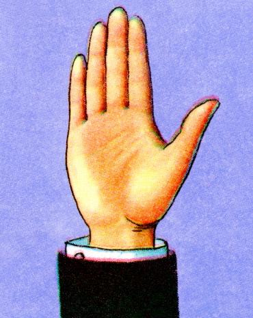 Uplifted Hand