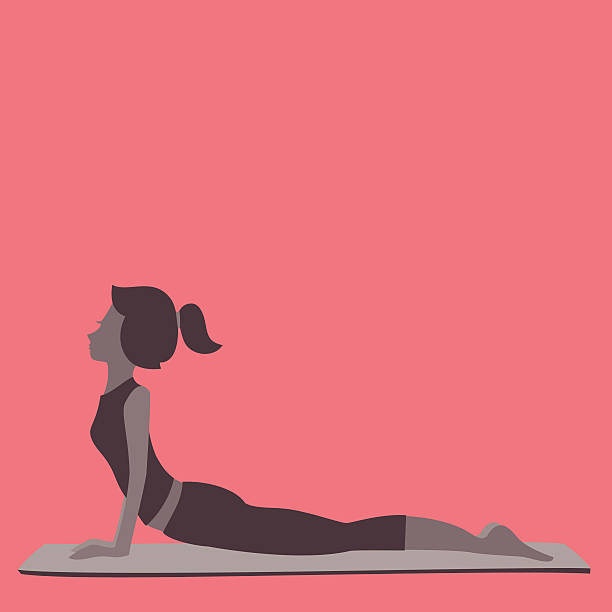 Upward Dog  upward facing dog position stock illustrations