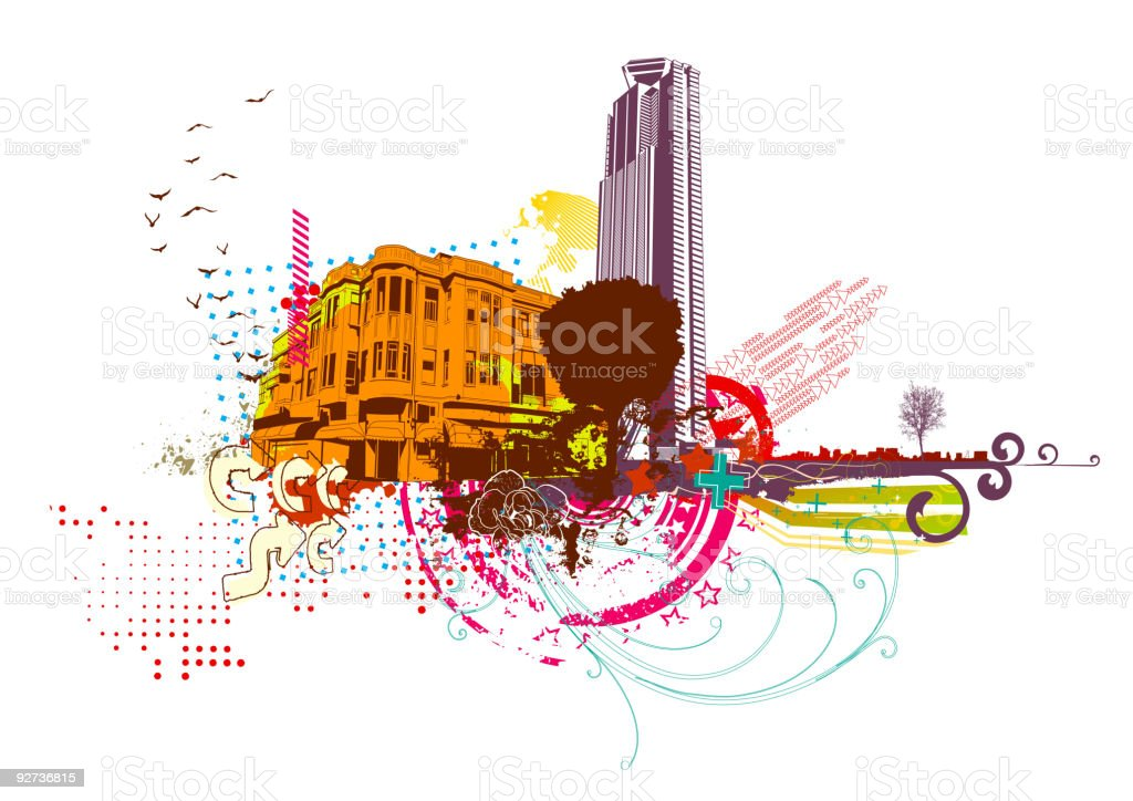 urban background - Royalty-free Abstract stock vector