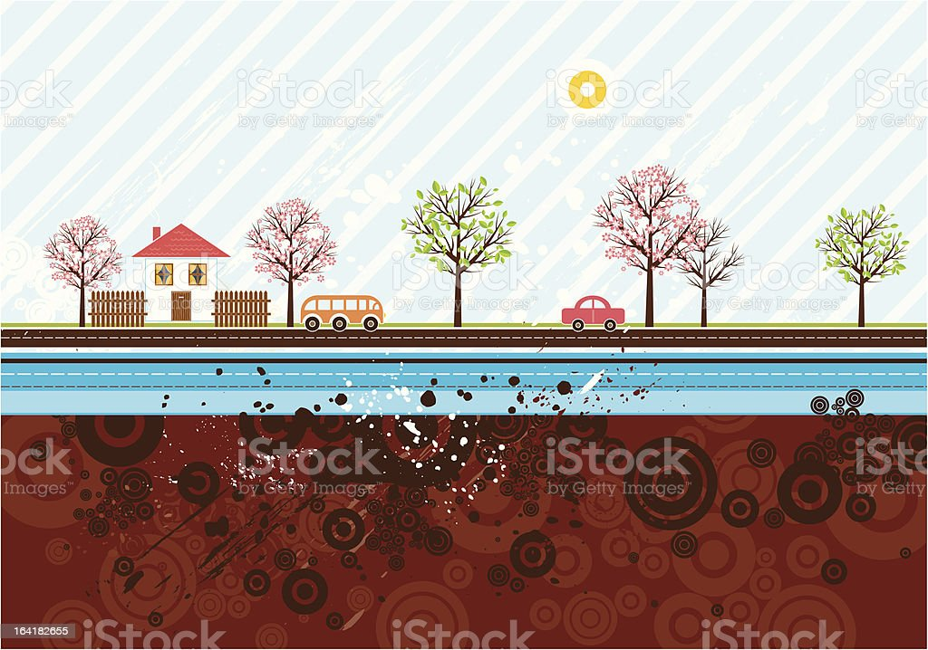 Urban background, vector royalty-free stock vector art