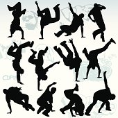 12 unique breakdancing silhouettes.
