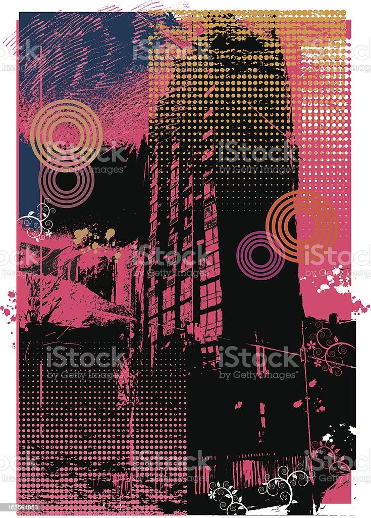 Urban decay. royalty-free stock vector art