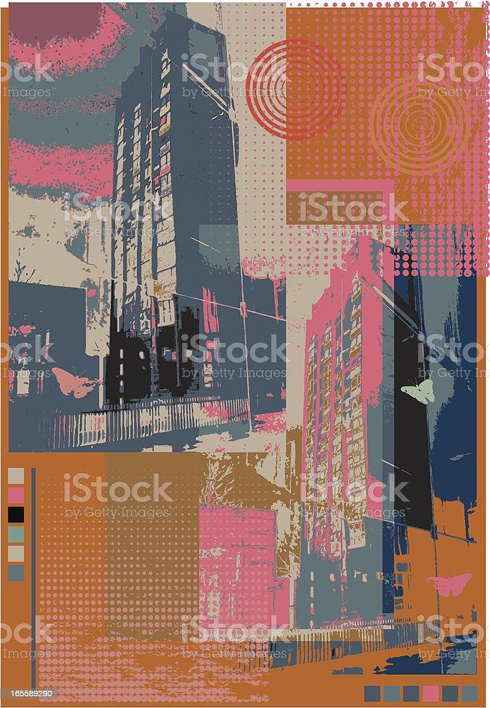 Urban decay one. vector art illustration
