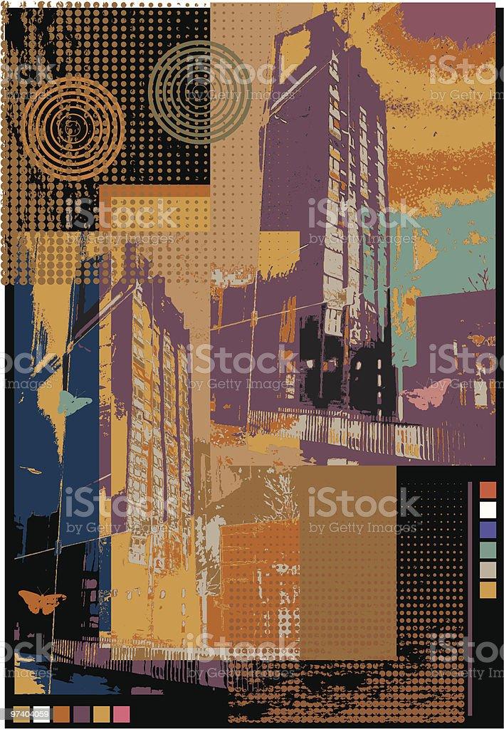 Urban decay three. vector art illustration
