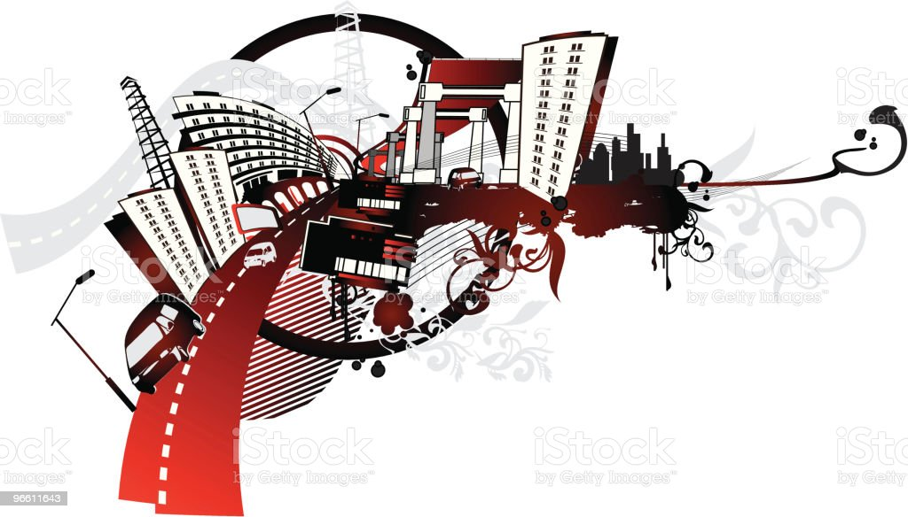 Urban ink - Royaltyfri Arkitektur vektorgrafik