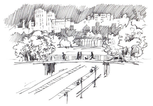 Best Railway Bridge Illustrations, Royalty-Free Vector