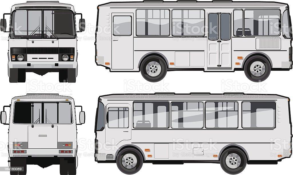 Urban/suburban passenger mini-bus royalty-free stock vector art