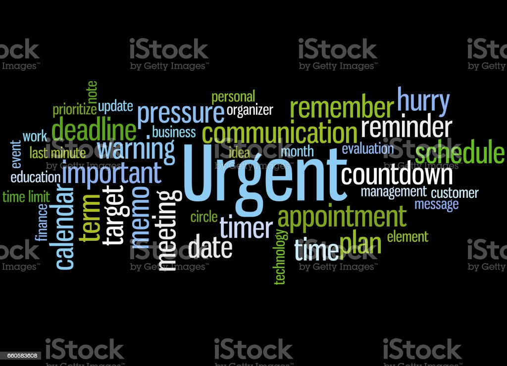 Urgent, word cloud concept 2 royalty-free urgent word cloud concept 2 stock vector art & more images of business