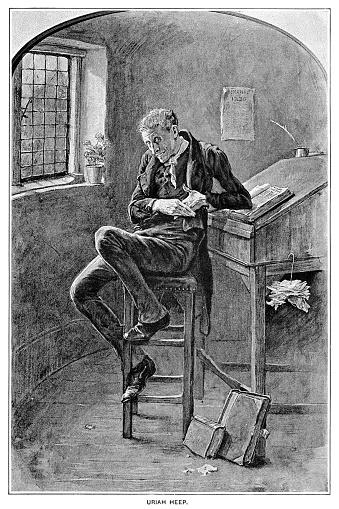 Uriah Heep Engraving 1892 Stock Illustration Download Image Now Istock