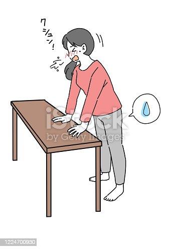 Urine leak Illustration of a woman doing pelvic floor muscle exercises