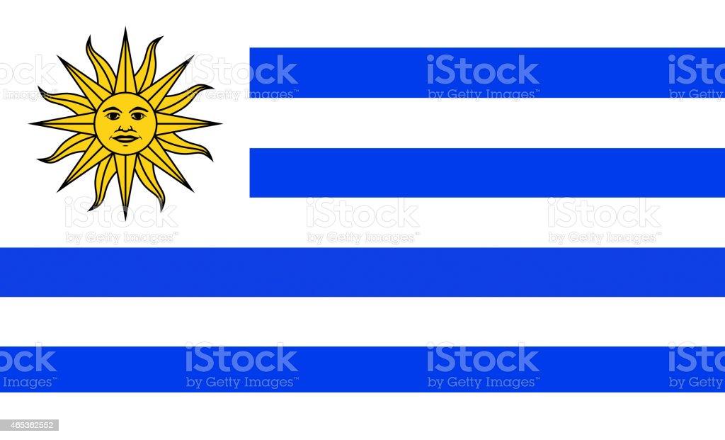Bandera uruguayo - ilustración de arte vectorial