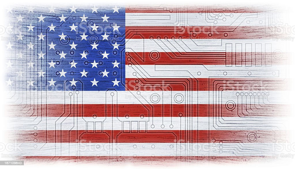 Us Flag Circuit Board Library Of Wiring Diagram