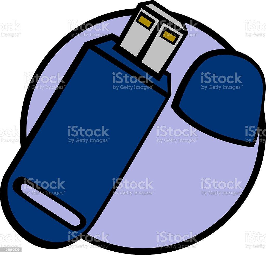 usb portable memory royalty-free stock vector art