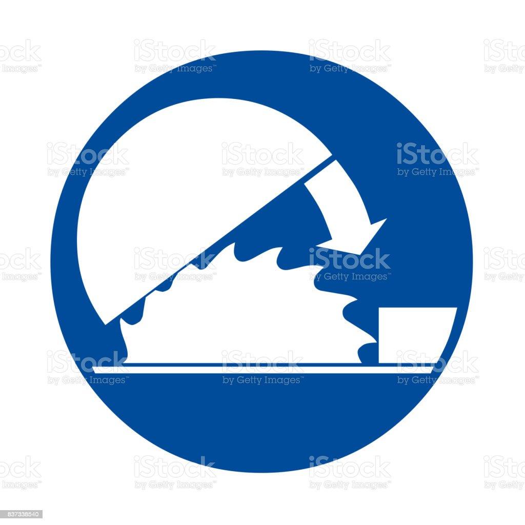Use adjustable guard safety sign vector art illustration