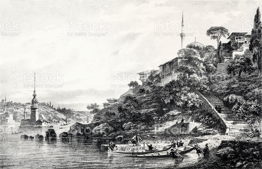 Uskudar, Istanbul royalty-free uskudar istanbul stock vector art & more images of 19th century