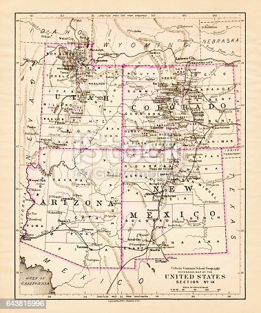 Colton's Common School Geography 1881 New York Sheldon and Co.