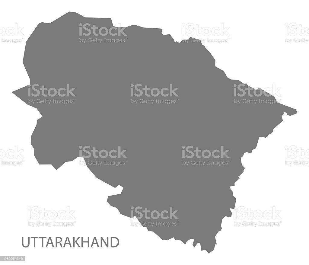 Uttarakhand India Map Grey Stock Vector Art IStock - India map vector