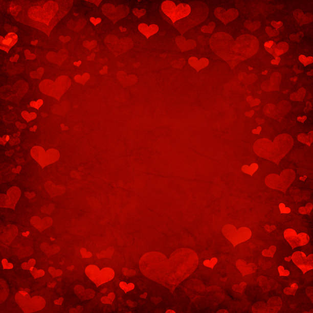 Valentine heart background vector art illustration