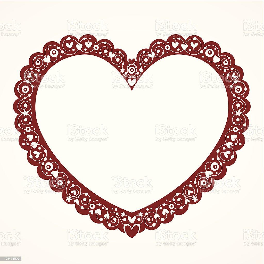 0c901deac4eda1 Coração Dia Dos Namorados Moldura Decorativa - Arte vetorial de ...