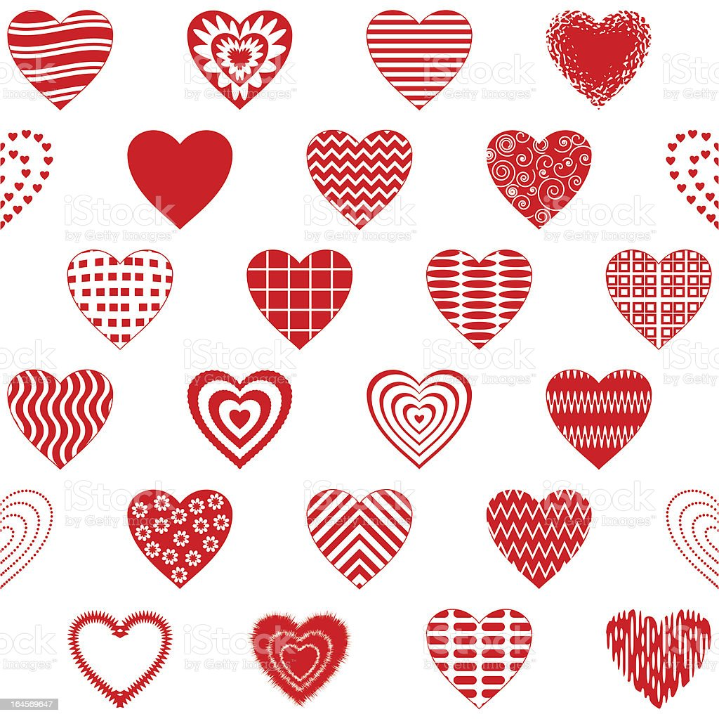 Valentine heart, seamless royalty-free stock vector art