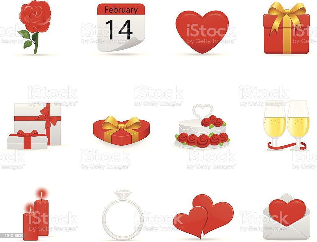 Valentine Icons Set royalty-free stock vector art
