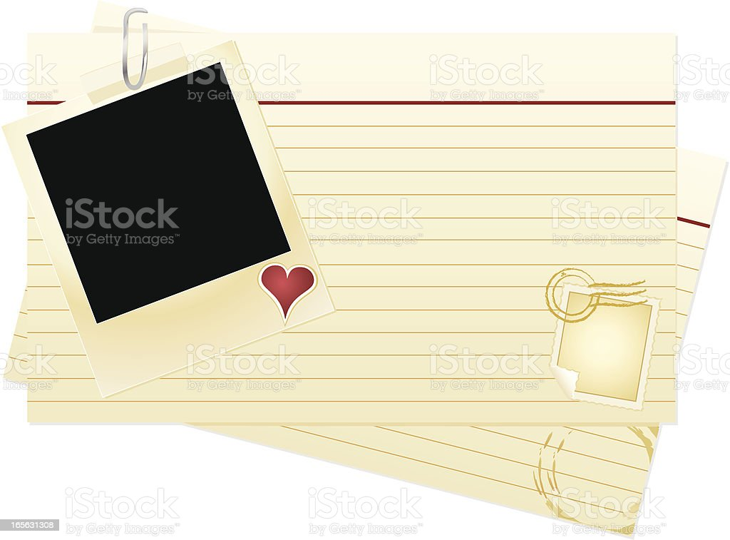 Valentine Index Cards royalty-free stock vector art