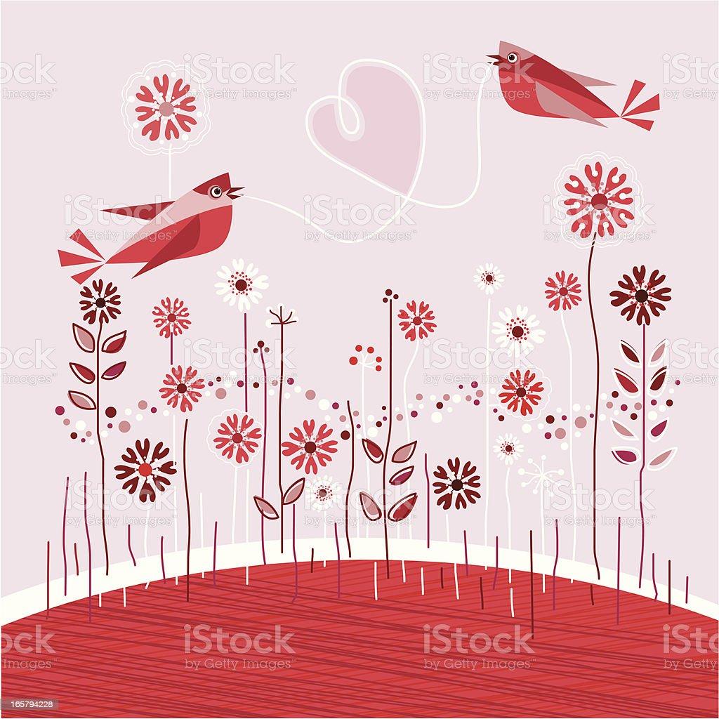バレンタインカードな鳥のカップル のイラスト素材 165794228 | istock