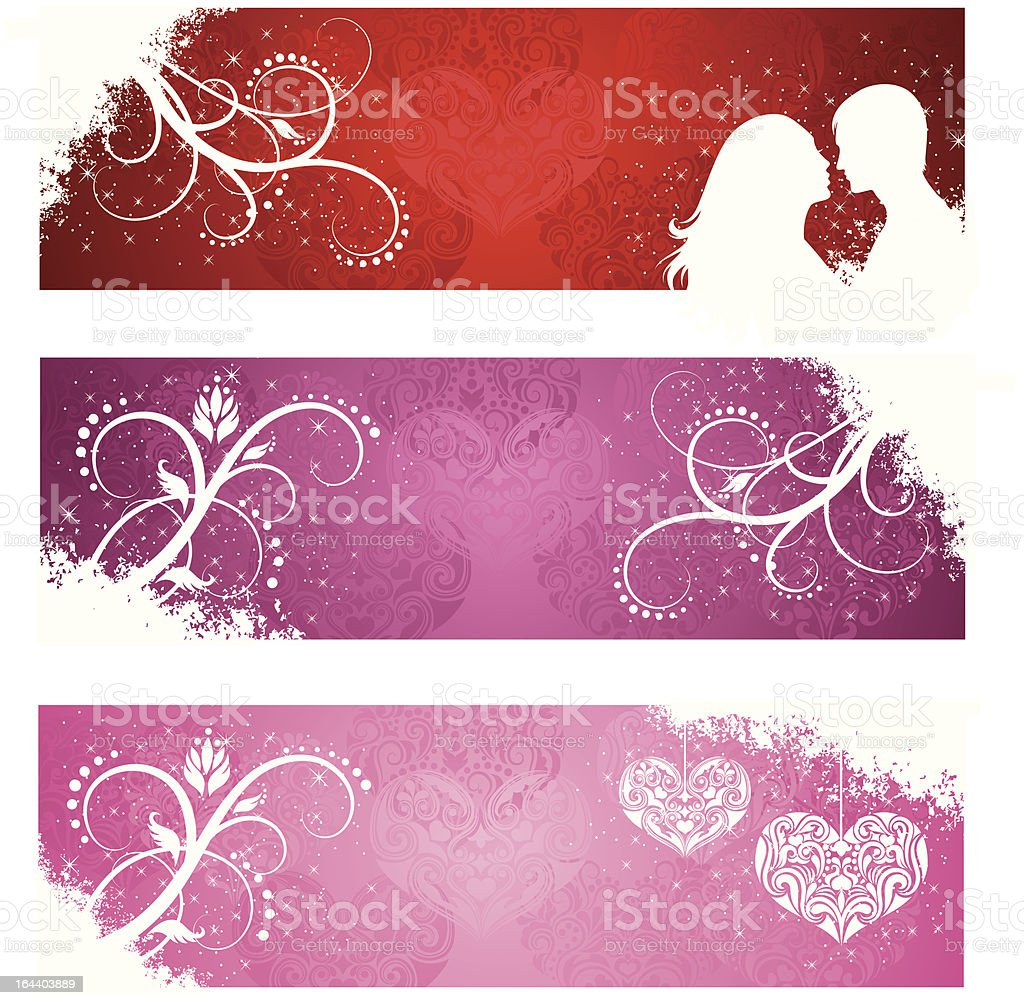 Valentine's day banners. royalty-free valentines day banners stock vector art & more images of abstract