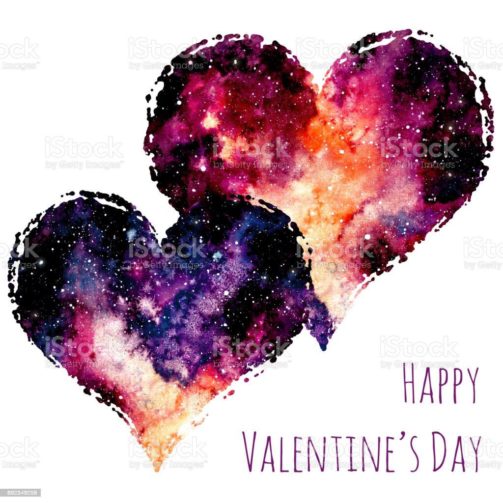 Ilustración de Tarjeta Del Día De San Valentín Con Corazones Y ...