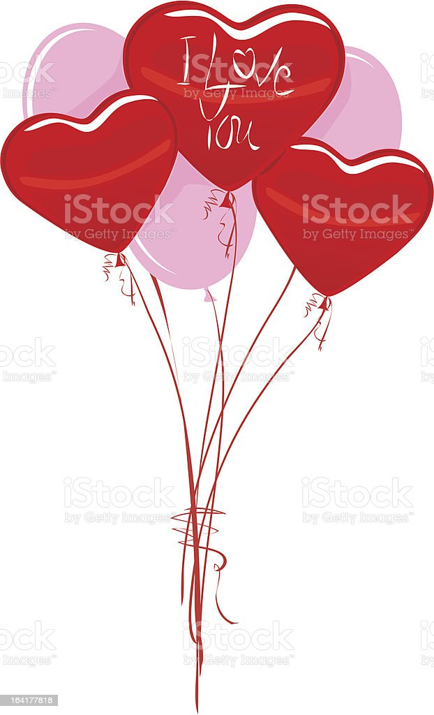 Valentine's Day Heart Balloons royalty-free valentines day heart balloons stock vector art & more images of anniversary