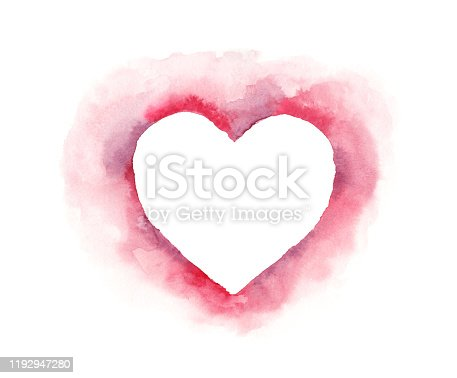 istock Valentine's Day Heart - Original Watercolor Painting 1192947280