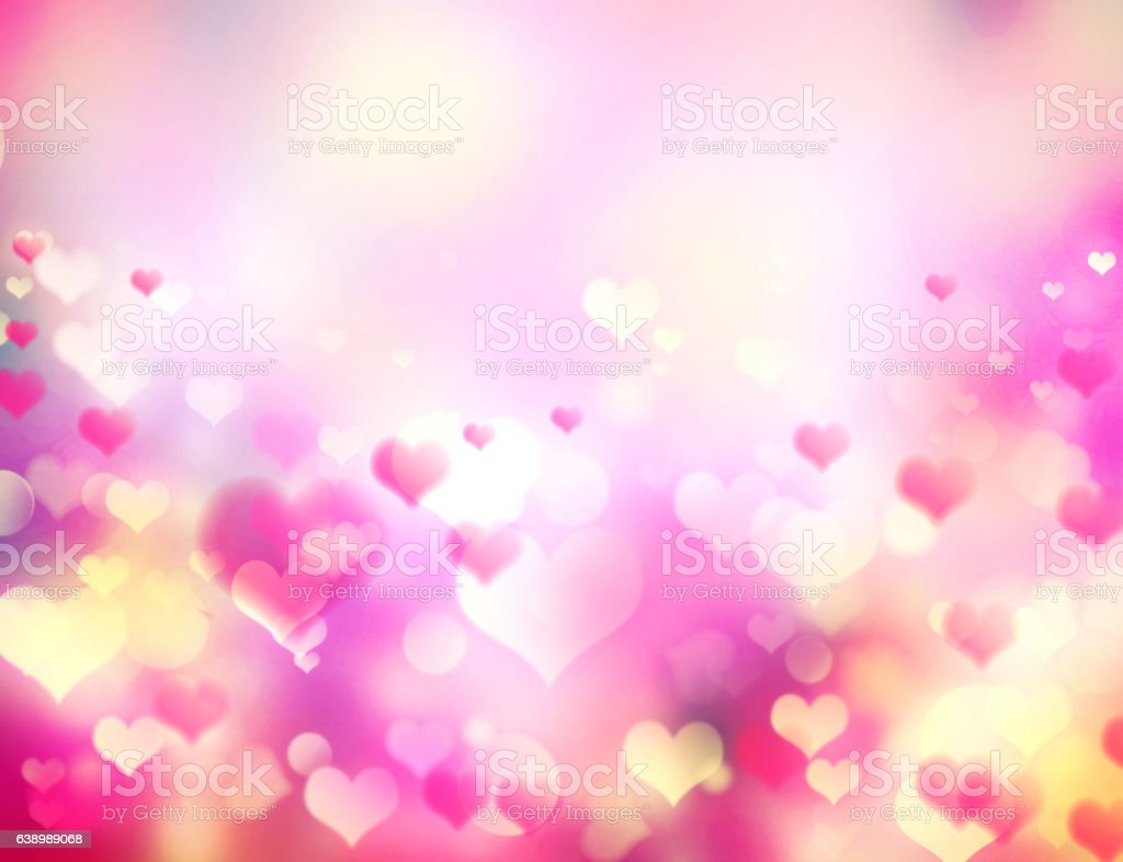 Valentines day holiday blurred pink background. vector art illustration